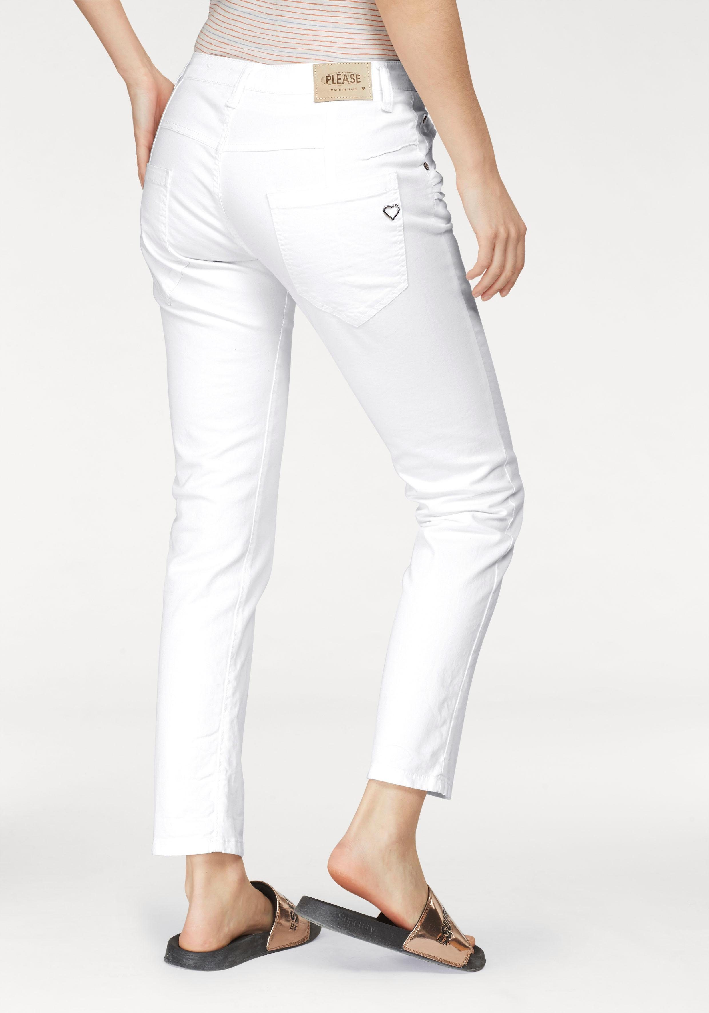 Please Jeans Boyfriend Jeans »P85A« lässige Jeans Hose mit Crinkle Effekt und krempelbarem Bein online kaufen   OTTO