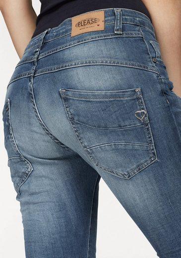 Please Jeans Boyfriend-Jeans P78A, mit auffallender Knopfleiste