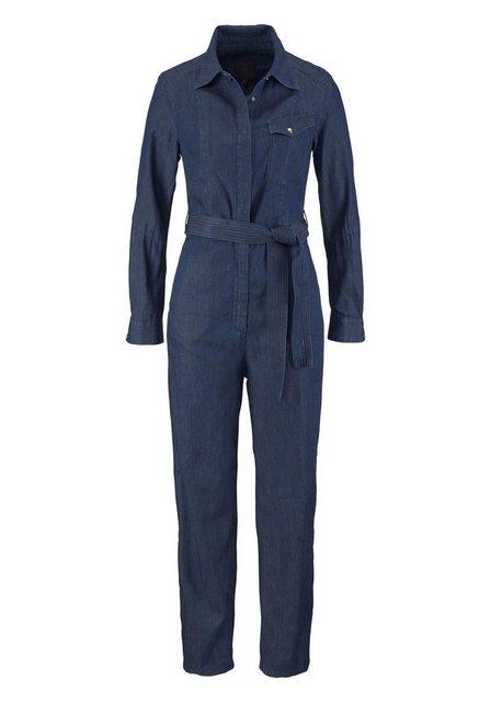 Damen G-Star RAW Overall Tacoma Jumpsuit mit Bindegürtel blau | 08719369362552