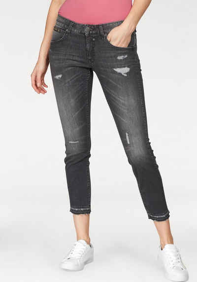5dc4b21e124924 Herrlicher Slim-fit-Jeans »TOUCH CROPPED« Low Waist Vintage Destroyed Look