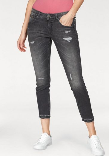 Herrlicher Slim-fit-Jeans »TOUCH CROPPED« Low Waist Vintage Destroyed Look