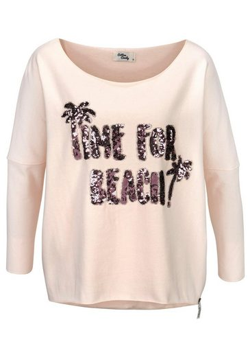 Candy Sweatshirt Cotton »bente« Pailletten Mit U6q4xRqw