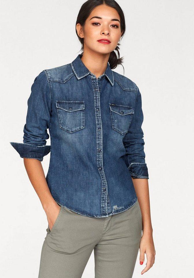 LTB Jeansbluse »LUCINDA« mit Used-Effekten kaufen   OTTO 66b0e1f463