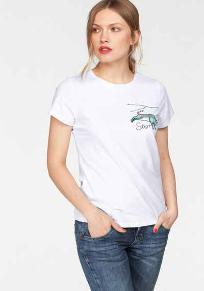 13de4dd1e3ffb AJC T-Shirt mit Sternzeichen-Applikation
