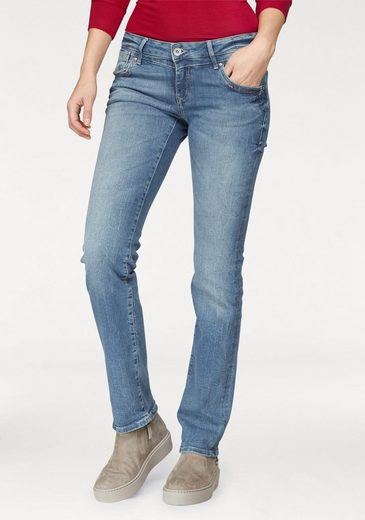 Mavi Jeans Straight-Jeans OLIVIA, in modischer Crinkle-Optik