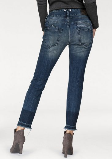 Herrlicher Mom-Jeans »PITCH MOM CROPPED« High Waist Destroyed