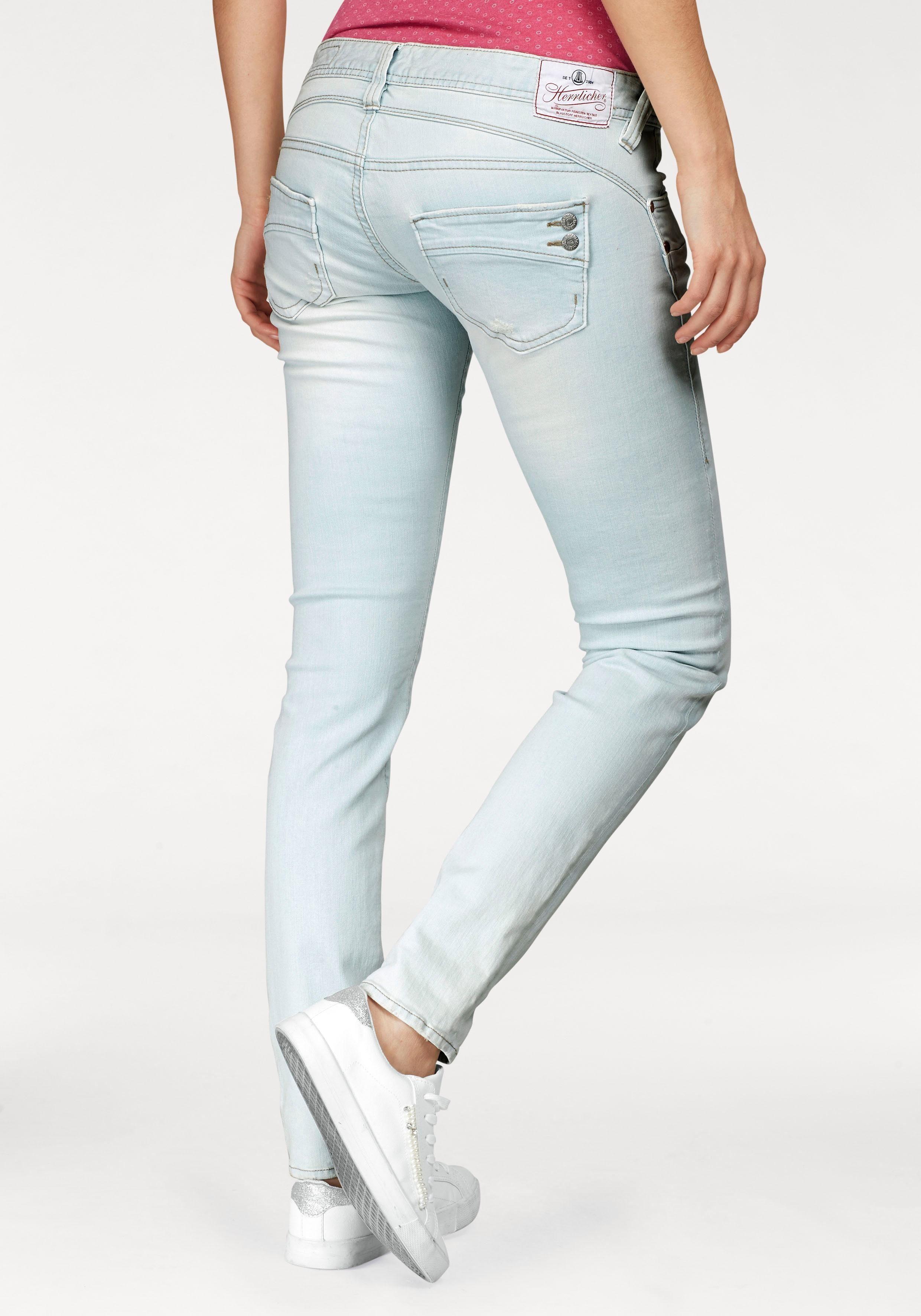 Herrlicher Slim-fit-Jeans »PIPER SLIM«, mit Dekoknöpfen hinten