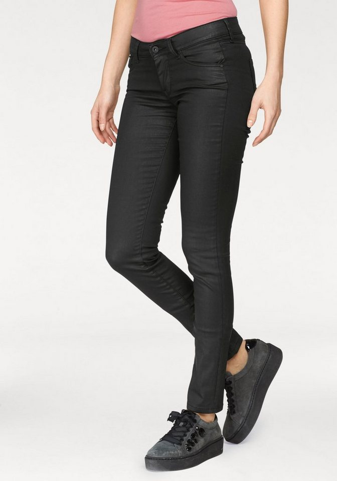 78287aa58a45 Pepe Jeans Skinny-fit-Jeans »PIXIE« mit Glanzbeschichtung in Lederoptik