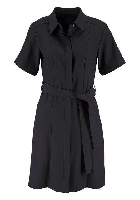Damen G-Star RAW Blusenkleid Bronson DC Shirt Dress mit Bindegürtel schwarz | 08719369366802