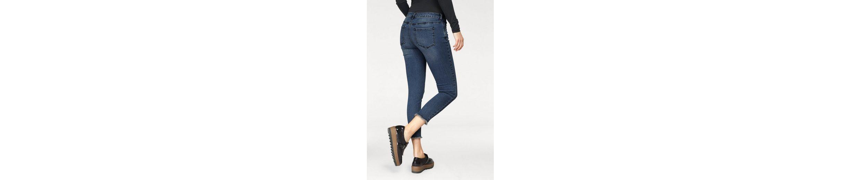 AJC 7/8-Jeans, mit Schn眉rung und Fransensaum