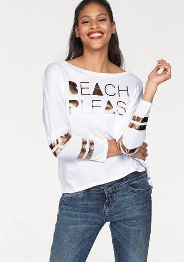 Cotton Candy Langarmshirt »Bente« mit Metallic-Print