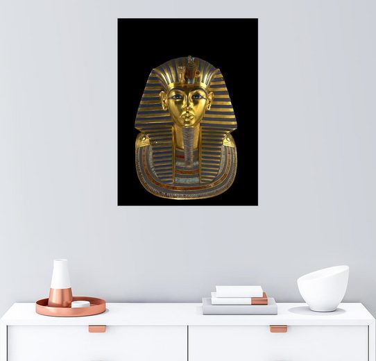 Posterlounge Wandbild - Kenneth Garrett »Die berühmte Totenmaske des Pharao Tutanchamun«