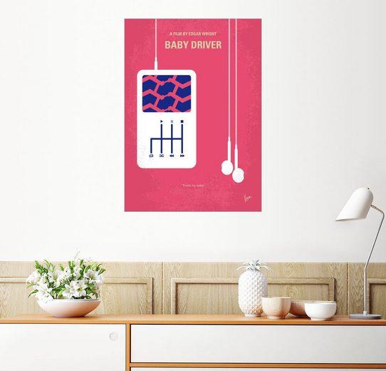 Posterlounge Wandbild - chungkong »No872 My Baby Driver minimal movie poster«