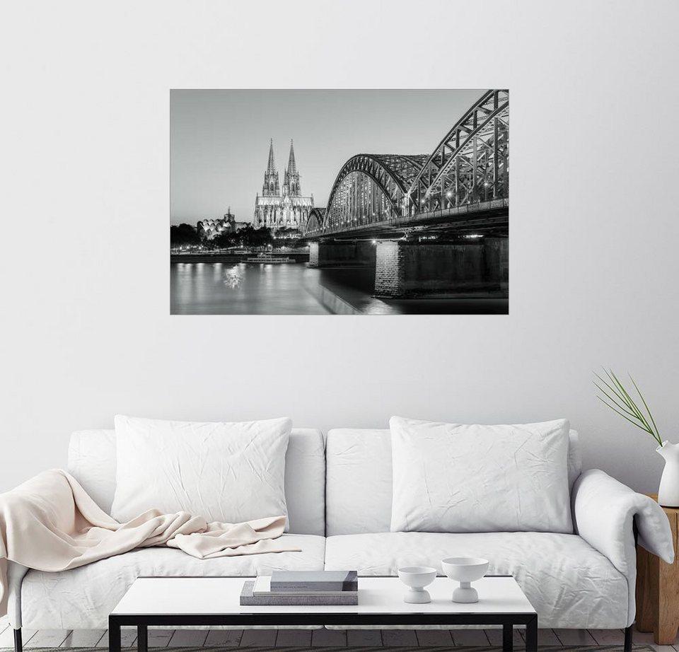 posterlounge wandbild michael valjak k ln am abend schwarz wei online kaufen otto. Black Bedroom Furniture Sets. Home Design Ideas