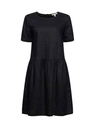 Esprit Midikleid »Aus Leinen: Kleid mit Knopf-Details«