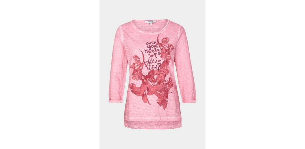 Statement Statement Arm COMMA COMMA 4 Frontprint 3 4 Arm Shirt mit mit 3 Shirt 7Sn5FHwCqx