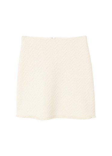 Mango Textured Cotton Skirt