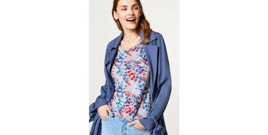 Günstige Austrittsstellen ESPRIT Softes Melange-Shirt mit modernem Blumen-Print Verkauf Geniue Händler Auslass 2018 Unisex Brandneue Unisex Online k4hs5Bm