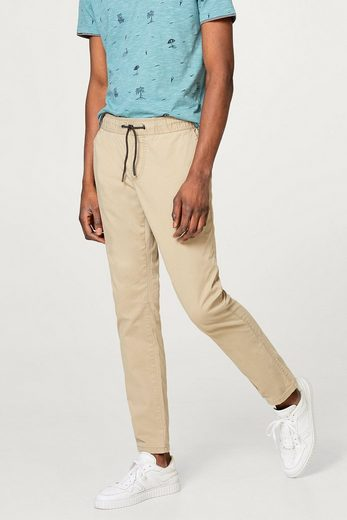 EDC BY ESPRIT Jogg-Pants aus glattem Baumwoll-Twill