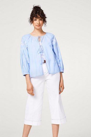 EDC BY ESPRIT Bestickte Blusen-Jacke aus Baumwolle