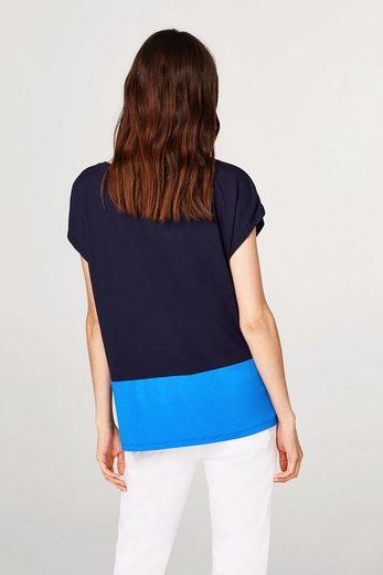 ESPRIT COLLECTION Weich fallendes Colorblock-Shirt