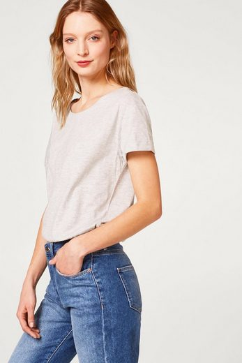 ESPRIT Lockeres Melange T-Shirt mit Organic Cotton