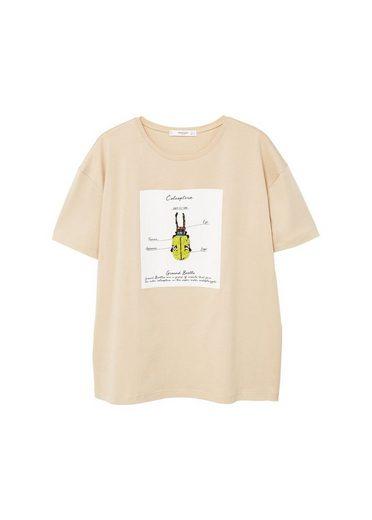 MANGO Gemustertes T-Shirt mit Applikationen