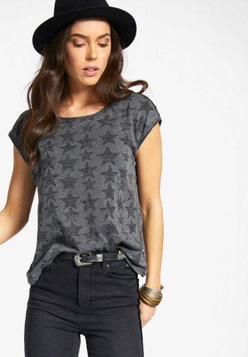 khujo T-Shirt SUNYA STARS, mit Sternenmuster