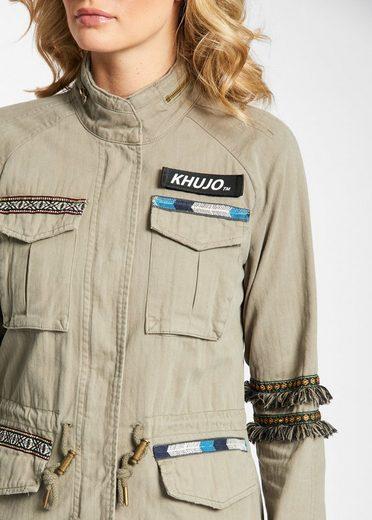 khujo Fieldjacket LEILANI, mit Ethno-Details