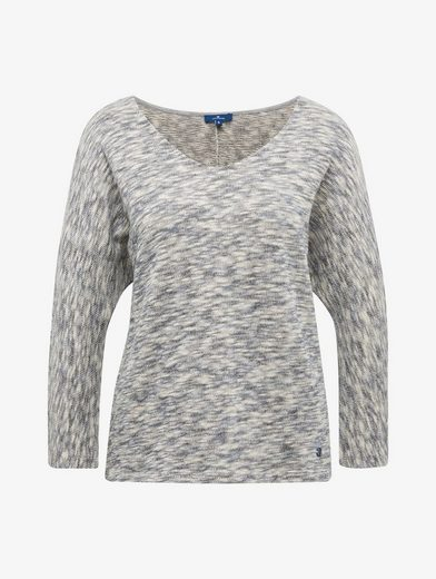 Tom Tailor Sweatshirt Sweatshirt in mehrfarbiger Melange-Optik