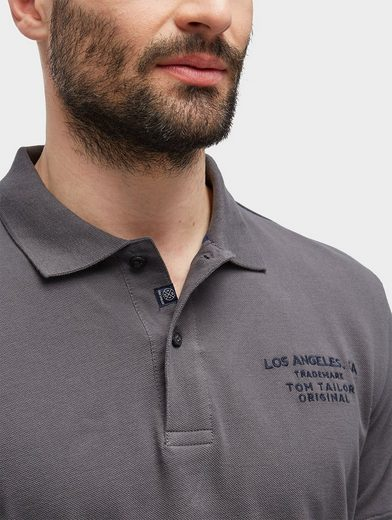 Tom Tailor T-Shirt Polo-Shirt mit Logo-Stickerei