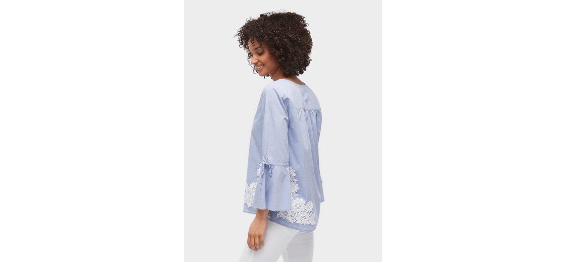 Tom Tailor Shirtbluse Bluse mit Lochstickerei 2018 Billig Verkaufen hDwwSV