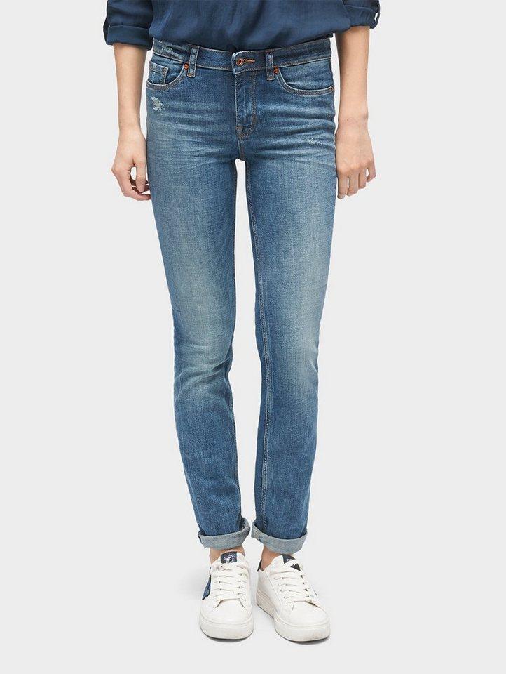 tom tailor denim straight jeans elsa mid blue jeans. Black Bedroom Furniture Sets. Home Design Ideas