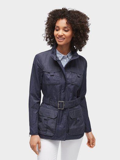 Tom Tailor Cargojacke Jacke mit Taillen-Gürtel