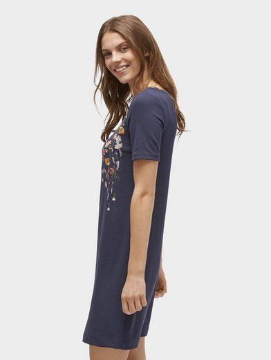 Tom Tailor Shirtkleid Kleid mit floraler Stickerei