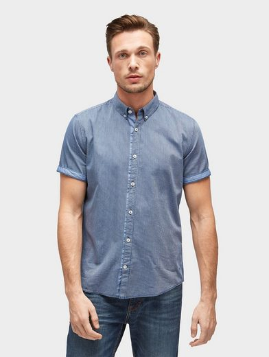 Tom Tailor Kurzarmhemd gestreiftes Kurzarm-Hemd