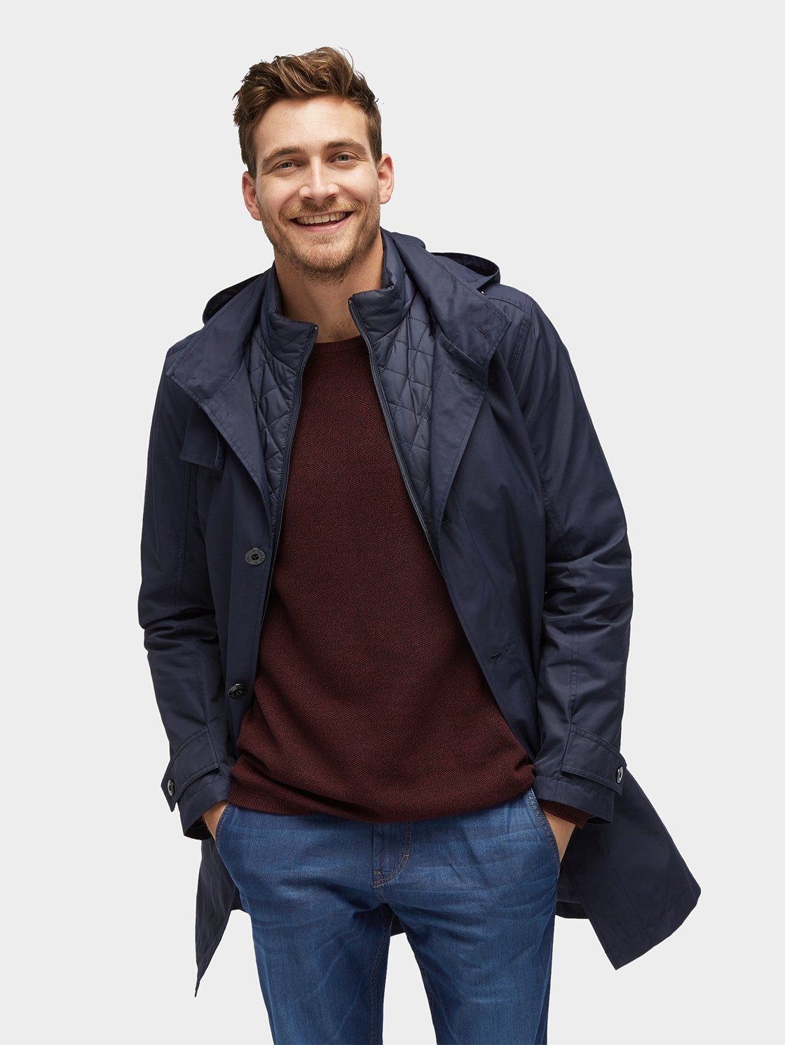 Tom Tailor Kurzmantel »2-in-1 Jacke mit herausnehmbarer Innenjacke«
