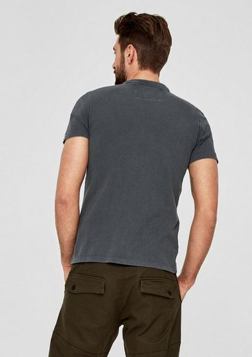 s.Oliver RED LABEL Henley-Shirt mit Waschung
