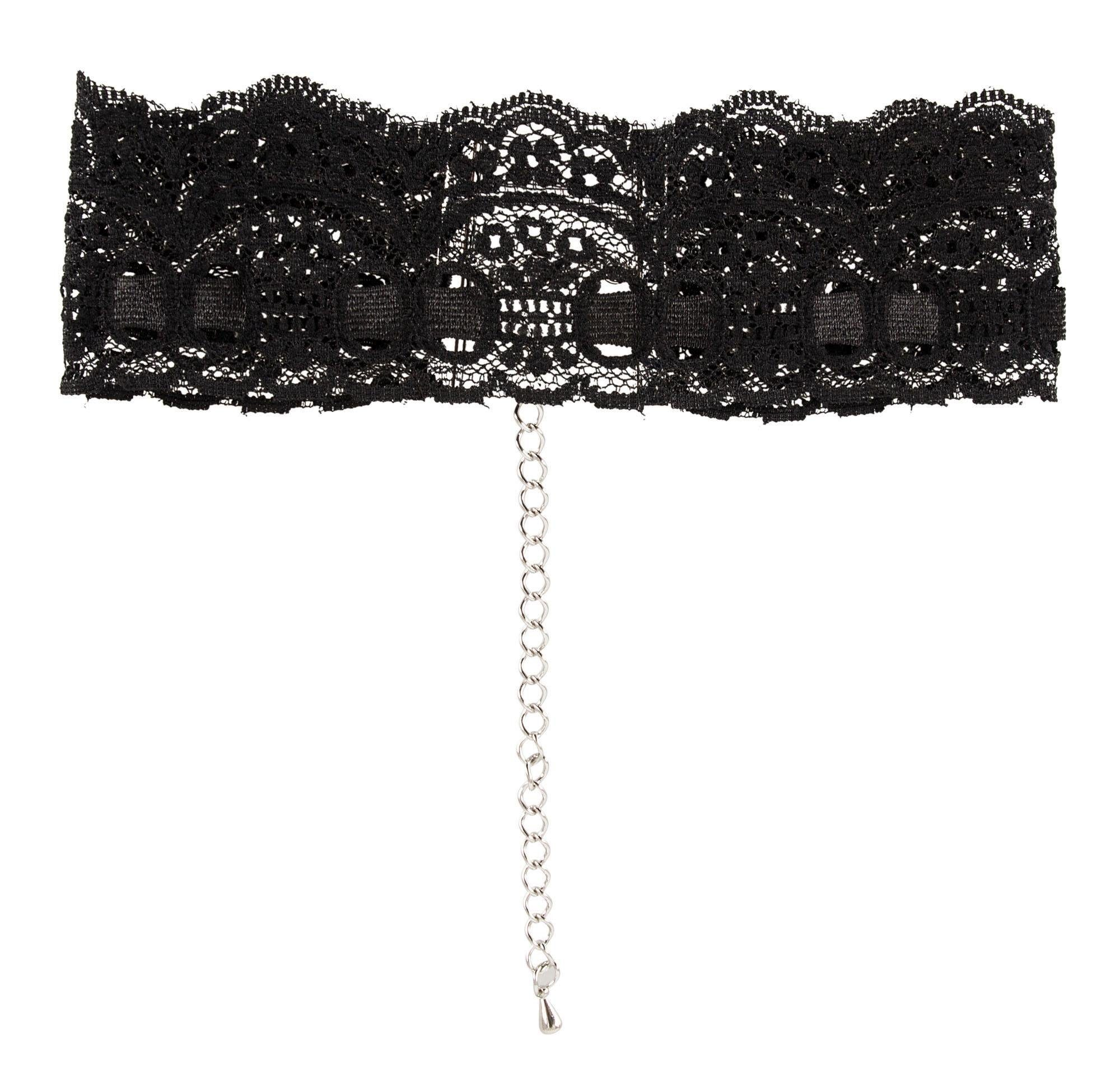 Cottelli Collection Accessoires Halsband Spitze, Halsband mit Spitze und Karabinerverschluss