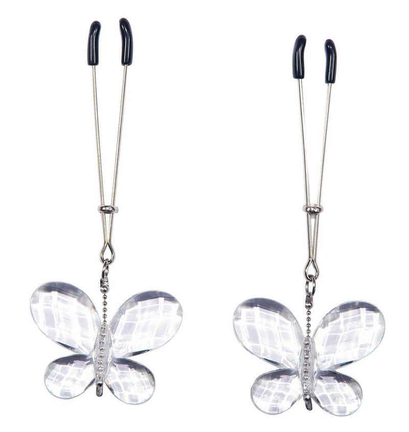 Bad Kitty Nippelklemme »Butterfly Clamps«, mit Schmetterlingsanhängern