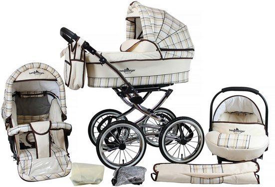 bergsteiger Kombi-Kinderwagen »Venedig, classic beige, 3in1«, (10-tlg)