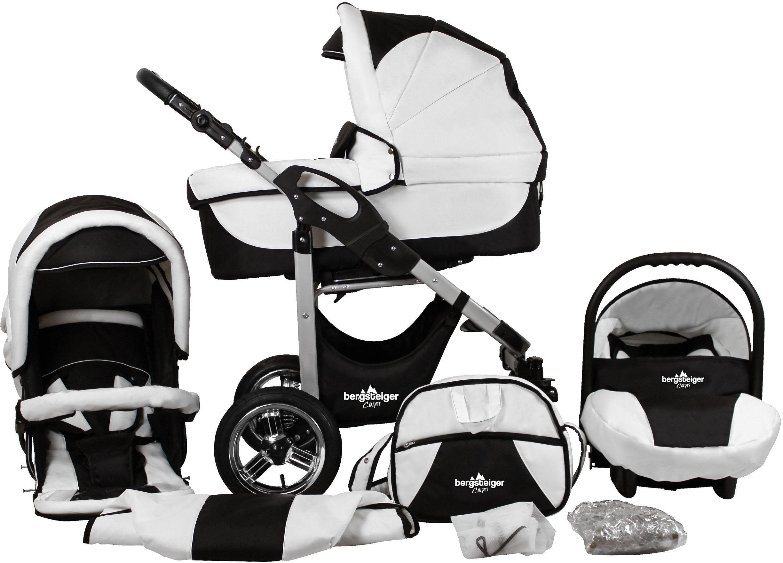 Bergsteiger Kombi-Kinderwagen, 10-tlg., »Capri, black & white, 3in1«