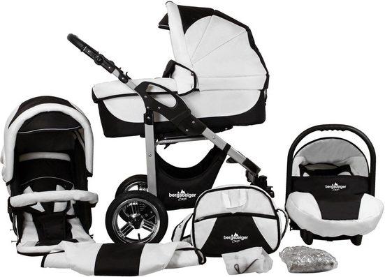 bergsteiger Kombi-Kinderwagen »Capri, black & white, 3in1«, (10-tlg), Made in Europe; Kinderwagen