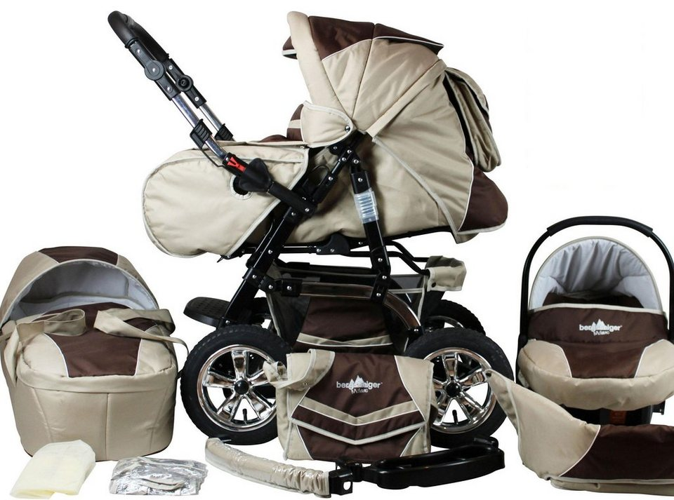 bergsteiger kombi kinderwagen 10 tlg milano coffee. Black Bedroom Furniture Sets. Home Design Ideas