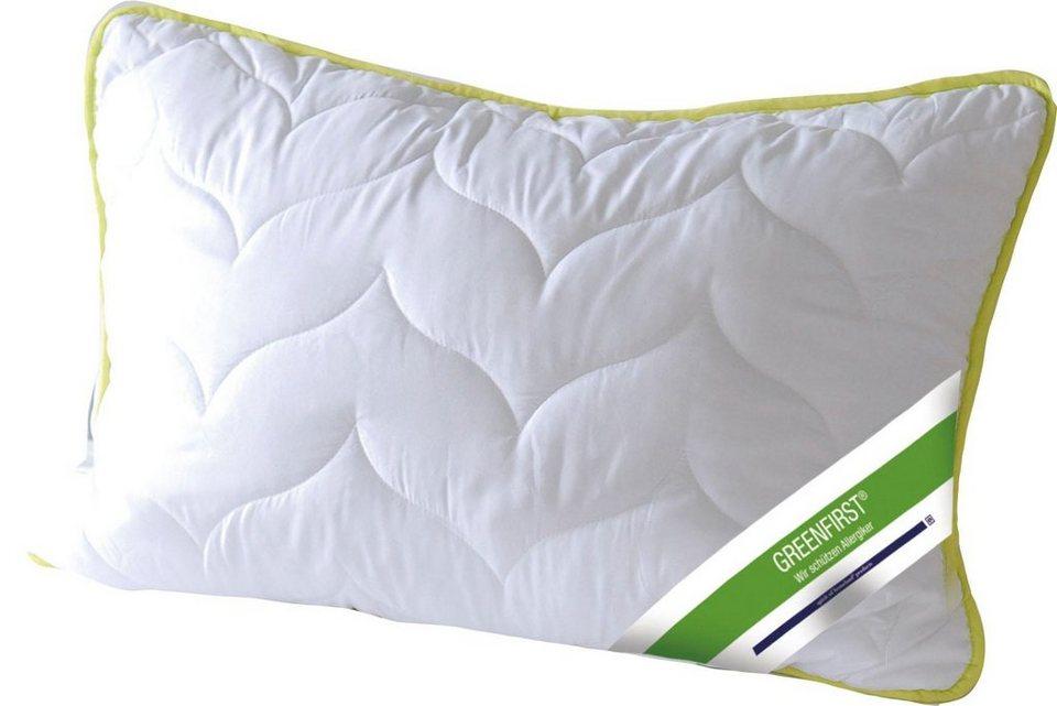 Microfaserkissen Greenfirst Anti Milbe Und Mucke Kbt Bettwaren 1 Tlg Online Kaufen Otto