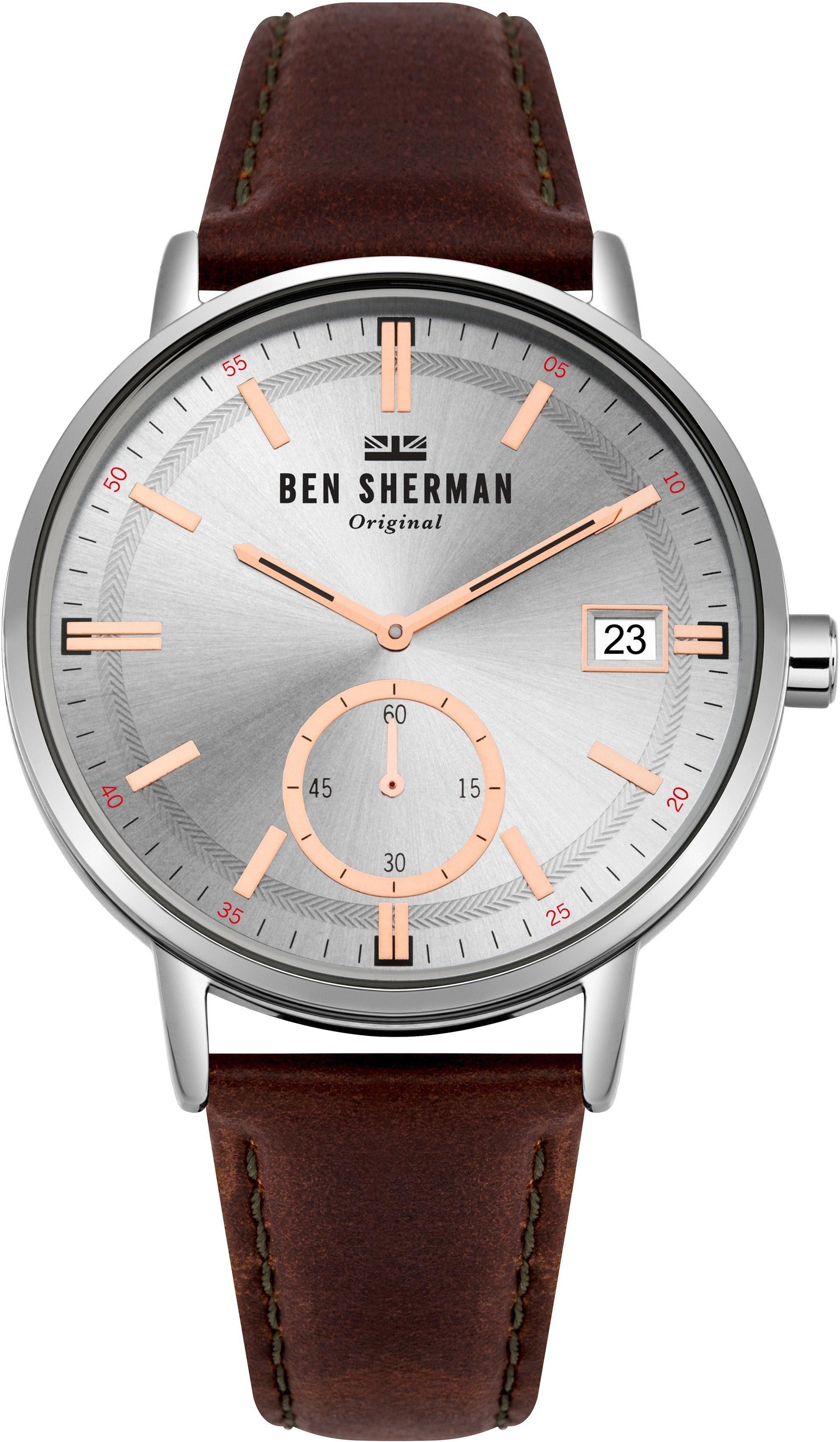Ben Sherman Quarzuhr »Portobello Professional Day-Date, WB071SBR« mit kleiner Sekunde