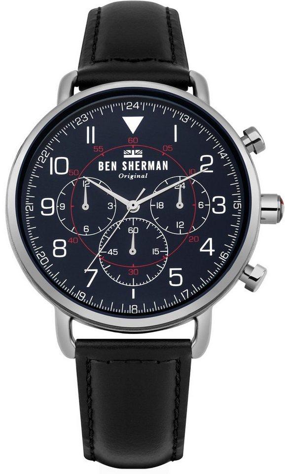 Ben Sherman Multifunktionsuhr »Portobello Military, WB068UB« mit kleiner Sekunde   Uhren > Multifunktionsuhren   Schwarz   Ben Sherman