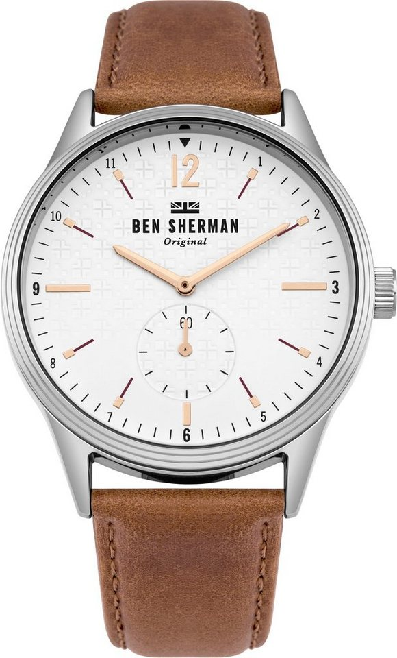 Ben Sherman London Spitalfields Steel Brown Leather Mens ...