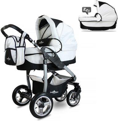 Bergsteiger Kombi-Kinderwagen, 10-tlg.,  online Capri, beige circles, 3in1  online  kaufen b6ca12