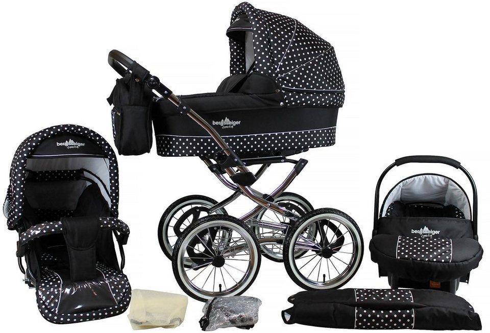 bergsteiger kombi kinderwagen 10 tlg venedig black. Black Bedroom Furniture Sets. Home Design Ideas
